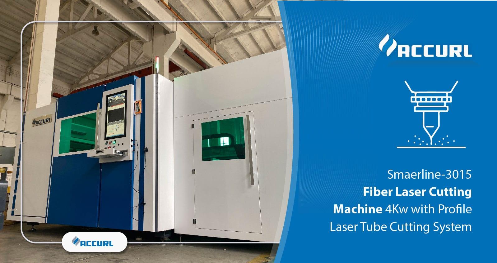 Smaerline-3015 Fiber Laser Cutting Machine 4Kw with Profile Laser Tube Cutting System